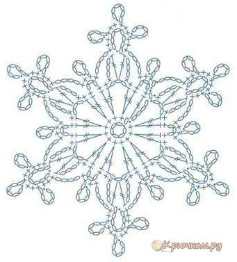 Схема снежинки крючком