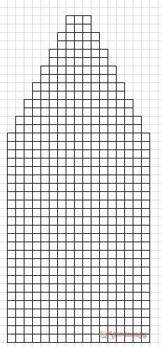 Схема домашних тапочек-следков спицами