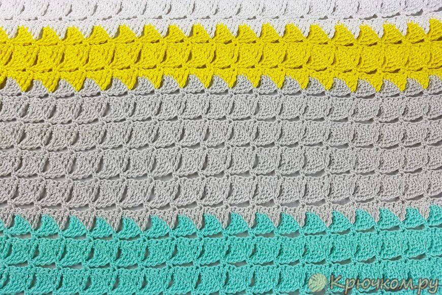 Узор из треугольников крючком