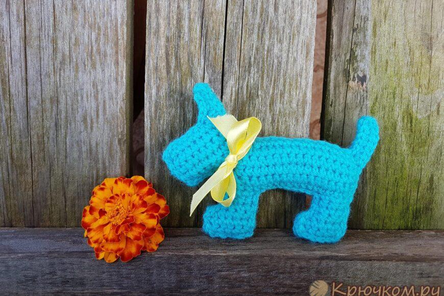 Собачка-брелок крючком