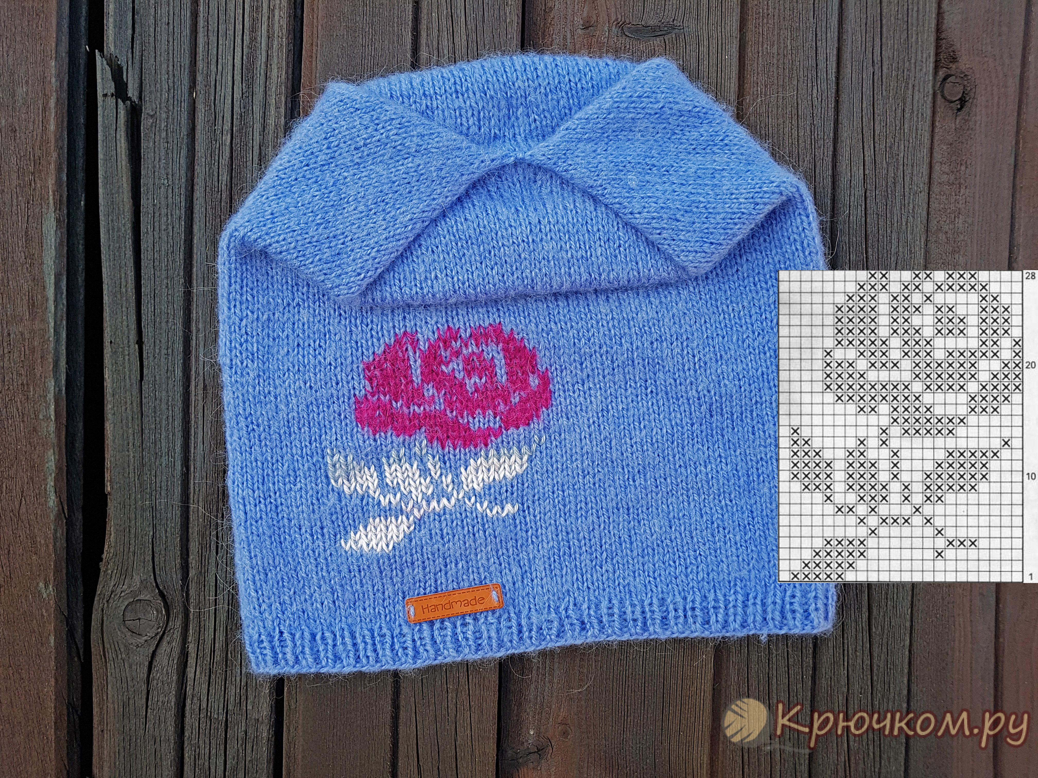 Схемы жаккарда для детей (вышивка по петлям, интарсия) вязание.
