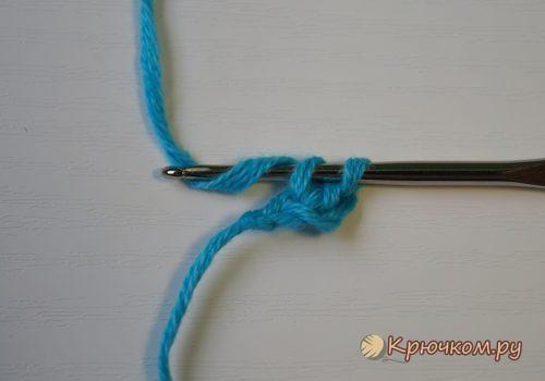 Эластичный набор петель крючком из соединительных столбиков