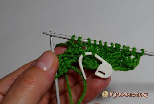 Узор из кос для свитера спицами
