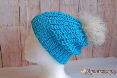 Зимняя женская шапка «Иней»