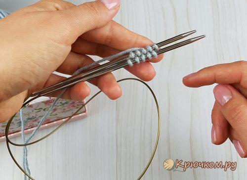 Набор петель методом Джуди