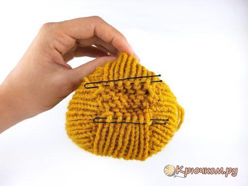 Шапка резинкой 1 на 1 спицами