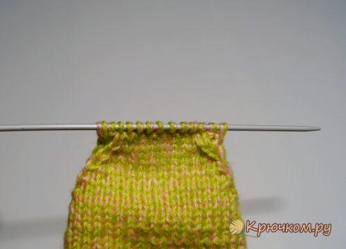 Вязать носки двумя спицами для начинающих видео