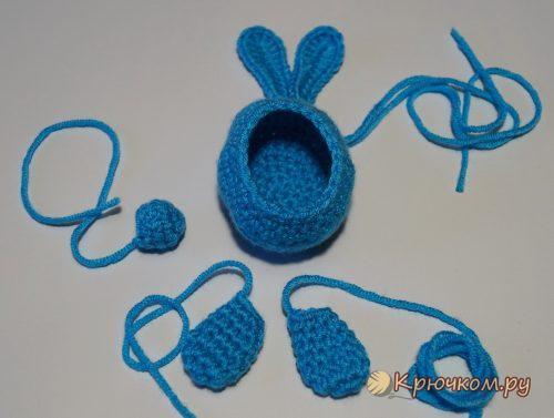 Пасхальный кролик Мими крючком