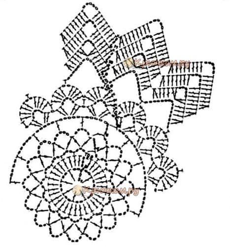 Круглая салфетка Алиса крючком схема