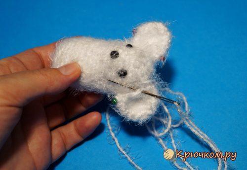 Вязаная мышка крючком