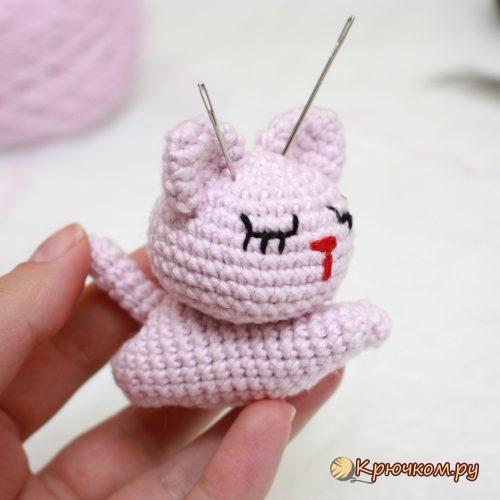 Игрушка кот Сэмми крючком