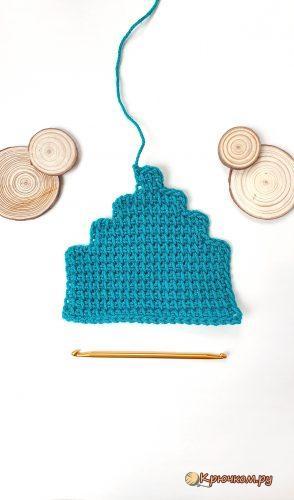 Убавление петель в тунисском вязании