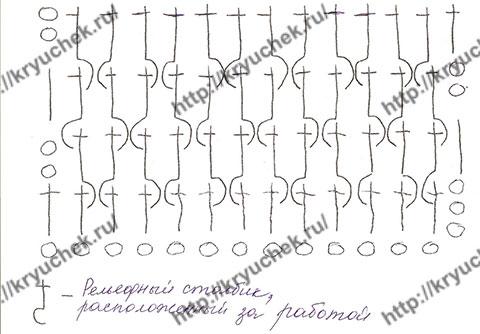 Схема вязанию крючком резинки для берета