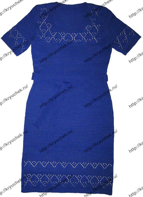 Вот такое летнее синее платье у нас получилось