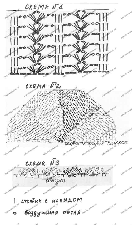 Схема вязания крючком красного болеро на девочку