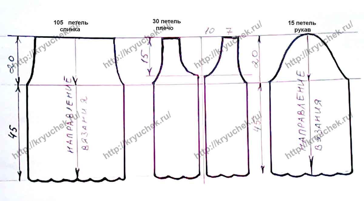 Вязанный пиджак выкройка