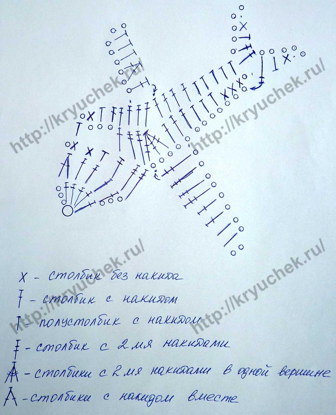 Схема вязания крючком аппликации