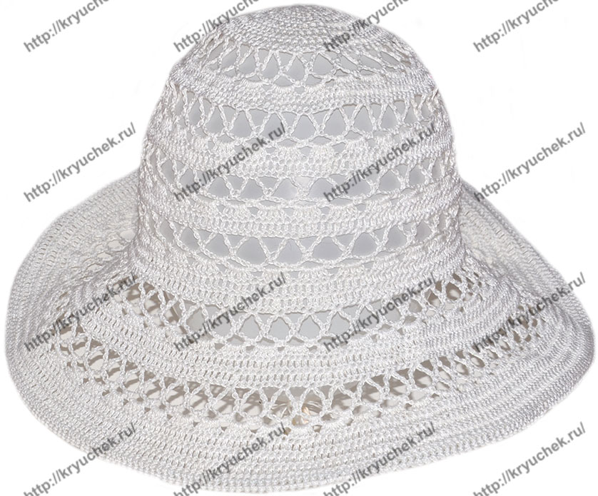 вязание крючком летней шляпы с полями