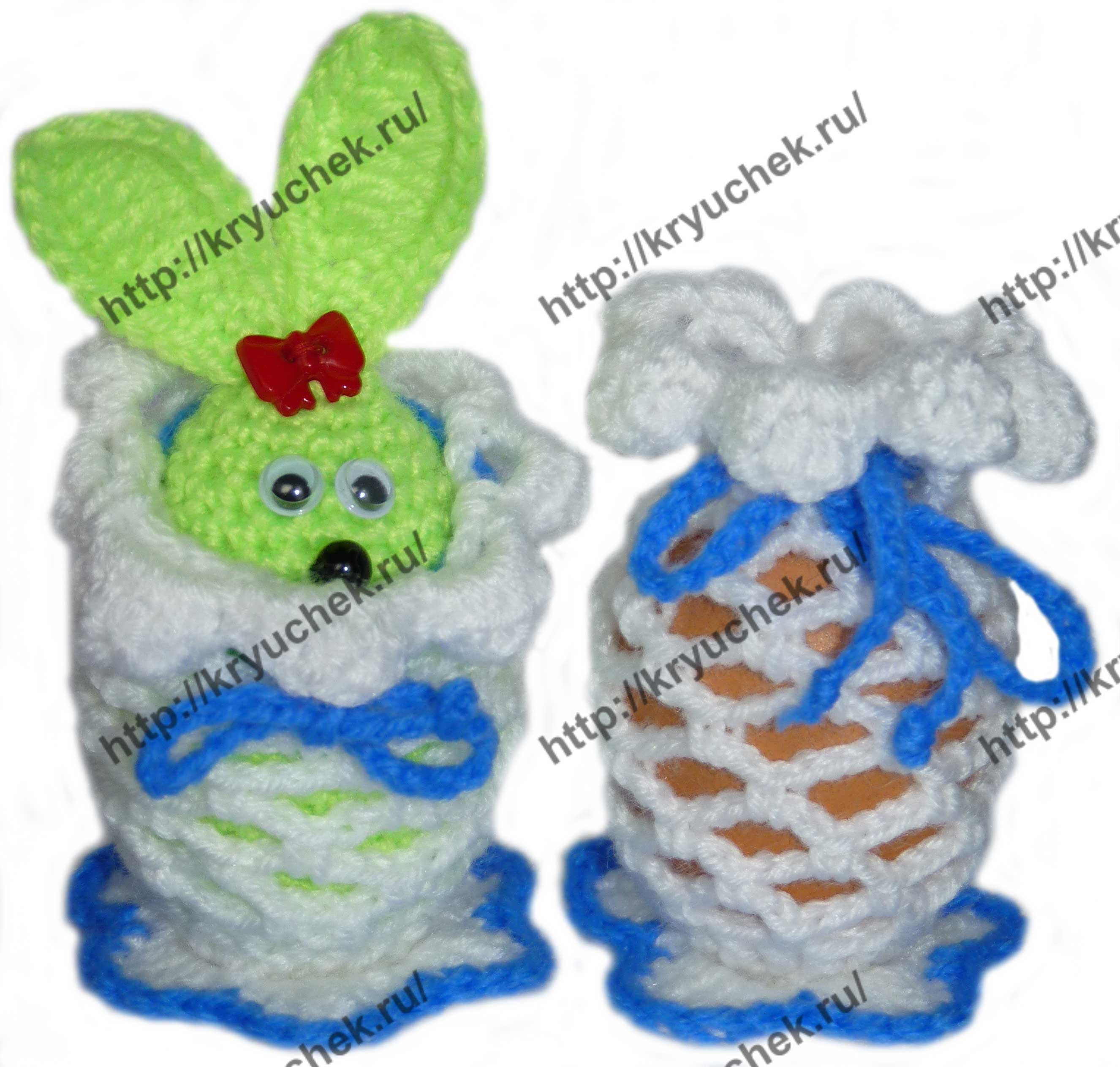 схема вязания крючком яйца