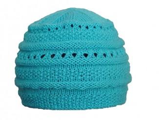 Вязание ажурной шапочки цвета океана