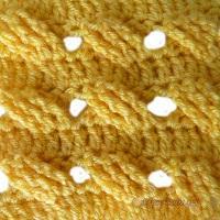 Вязание крючком узора ажурная плетенка