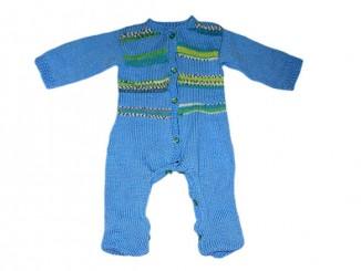 Вязание спицами комбинезона для малыша