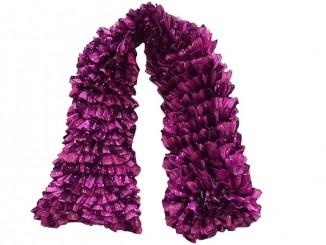 Вязаный спицами ленточный шарф