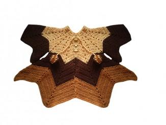 Вязание пончо-восьмиклинки для девочки 2 лет