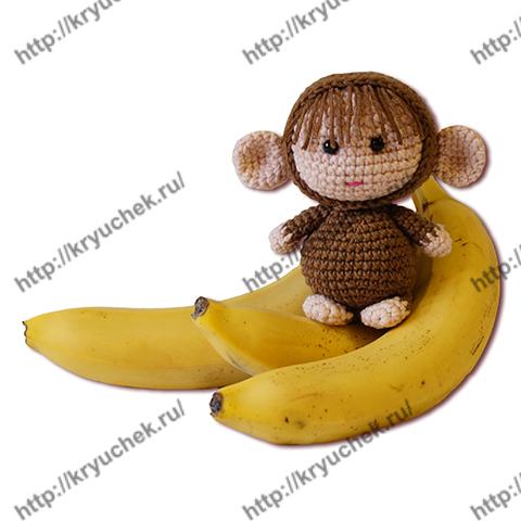 вязание обезьянки-амигуруми