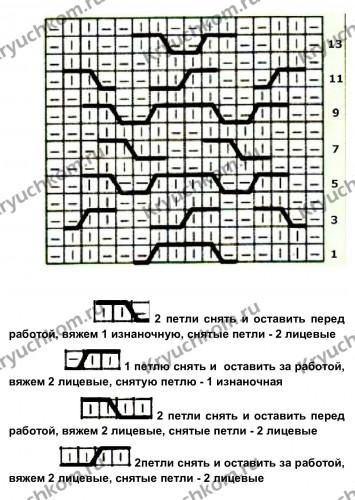 схема объемные араны спицами