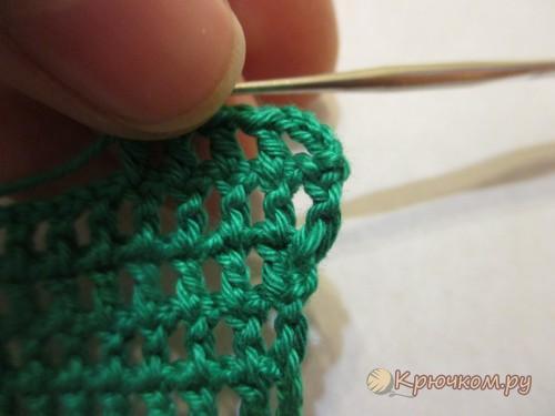 Как убавить при вязании крючком 312