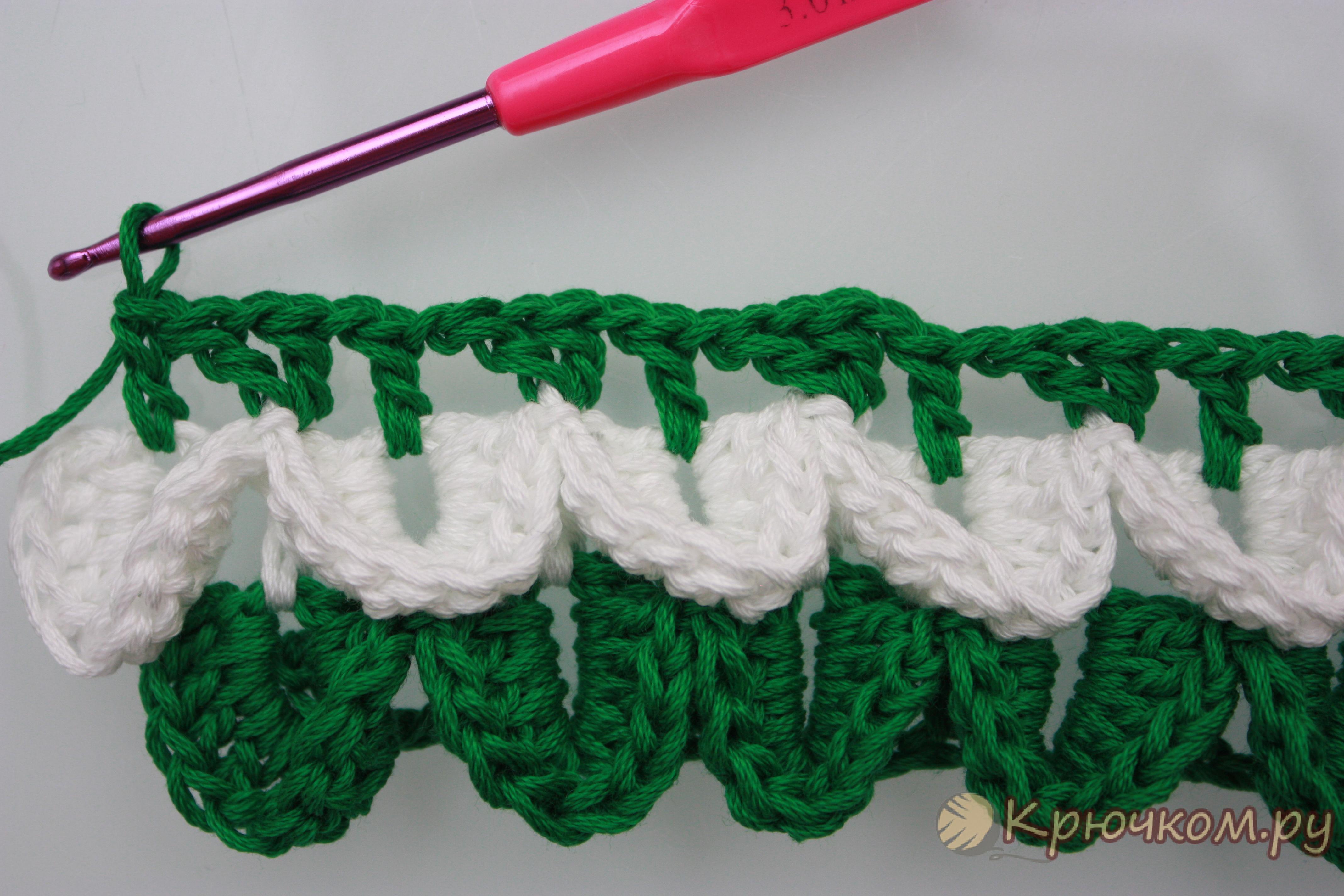 Узоры для вязания крючком чешуйки