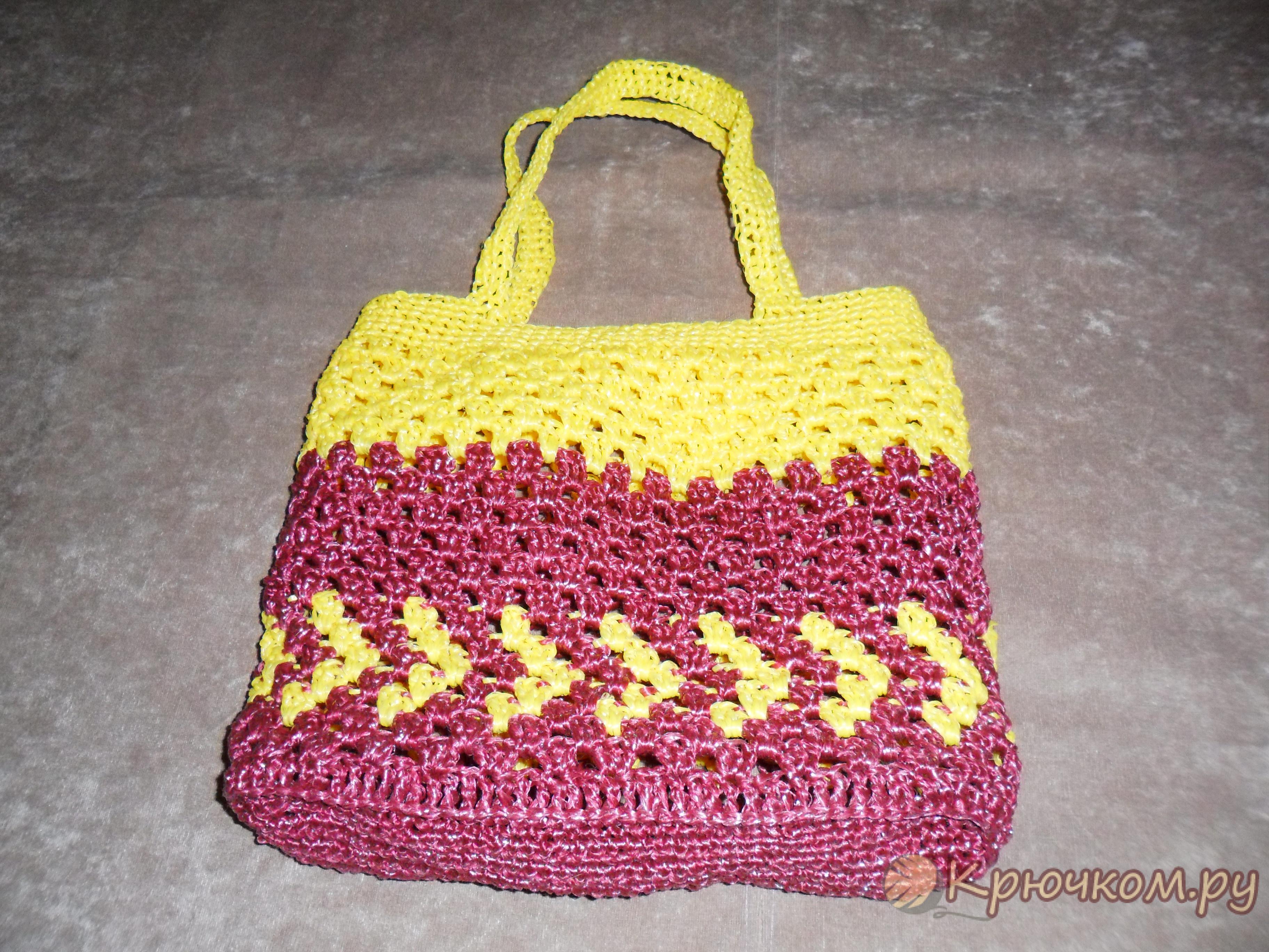Вязание крючком пляжные сумки 65