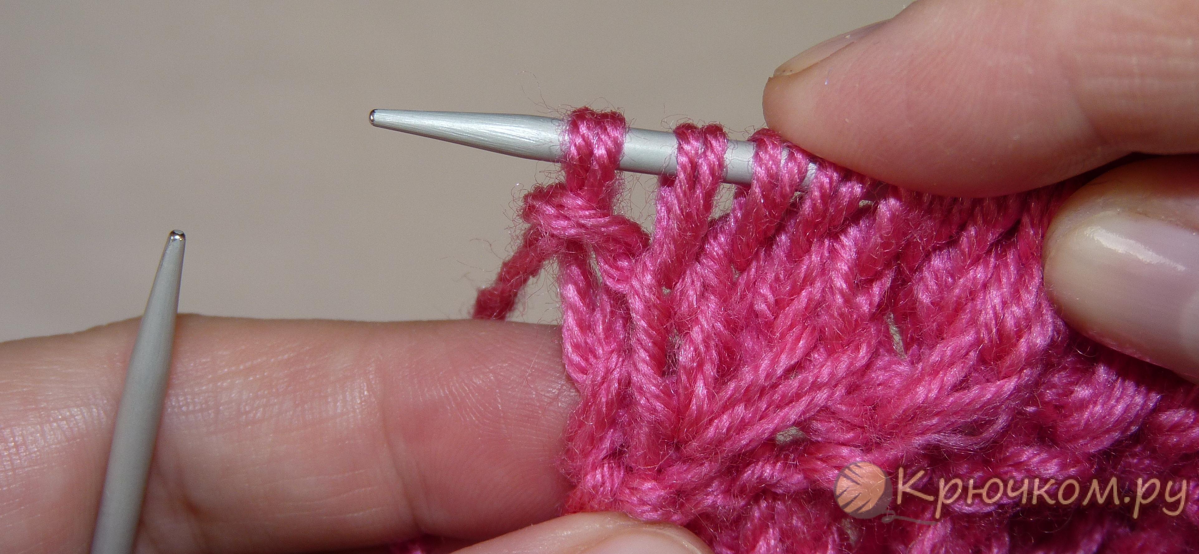Кромочная петля спицами: расскажем как вязать для шарфа