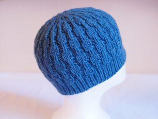 Вязаная детская зимняя шапка