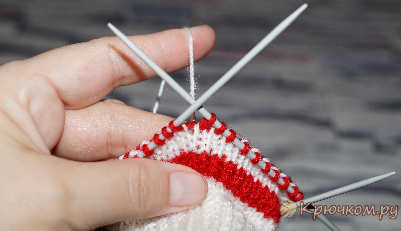 Смена нитки при вязании спицами 53